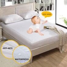 Анти-клещ кровати матрас защиты площадку гладкой Водонепроницаемый матрас защитная крышка для кровати мокрой дышащий гипоаллергенный 1 шт.