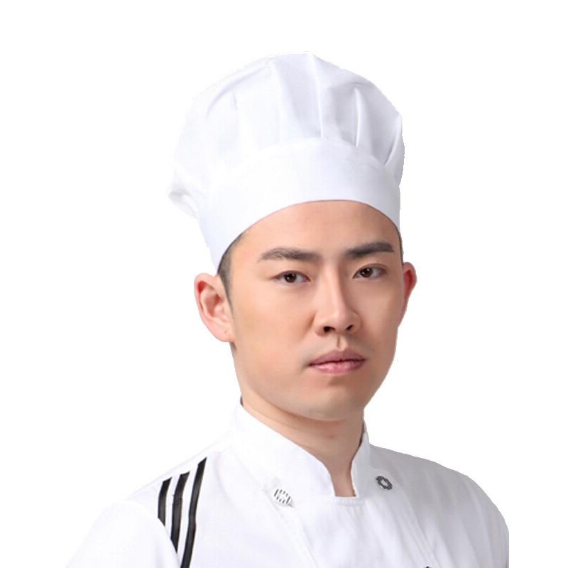 Chef Hat Cap Kitchen Supplies Dustproof Elastic Adjustable White For Hotel Cake Shop Nyz Shop