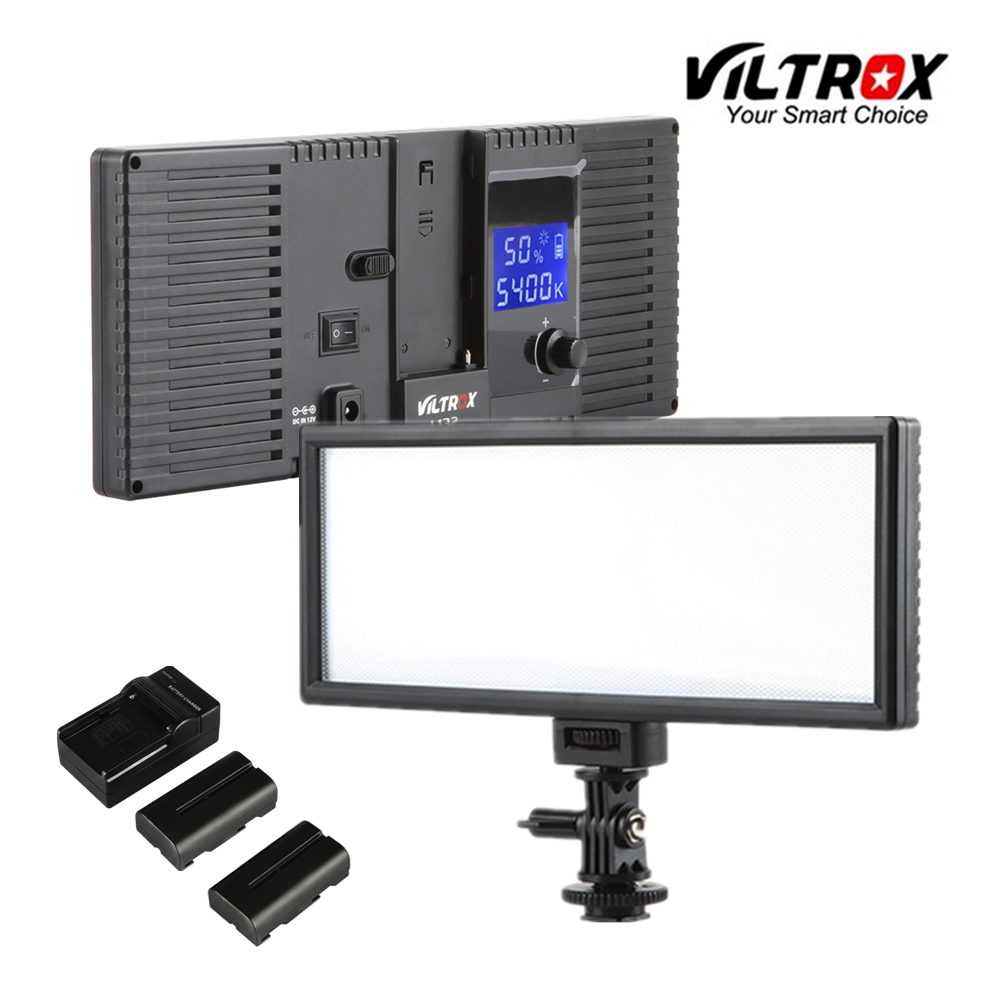 Viltrox L132T LCD Bi-Color Dimmable Slim Portable Handheld DSLR Video LED Light +Battery+Charger For Phone Youtube Show Live