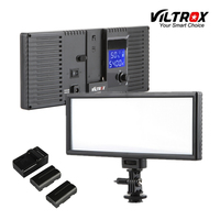 Viltrox L132T LCD Bi Color Dimmable Slim Portable Handheld DSLR Video LED Light +Battery+Charger for phone youtube show Live