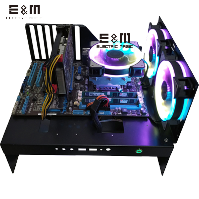 Test Bench Computer Case DIY External Display Card Base with Power Supply Display Card Extension Wire Support E-ATX