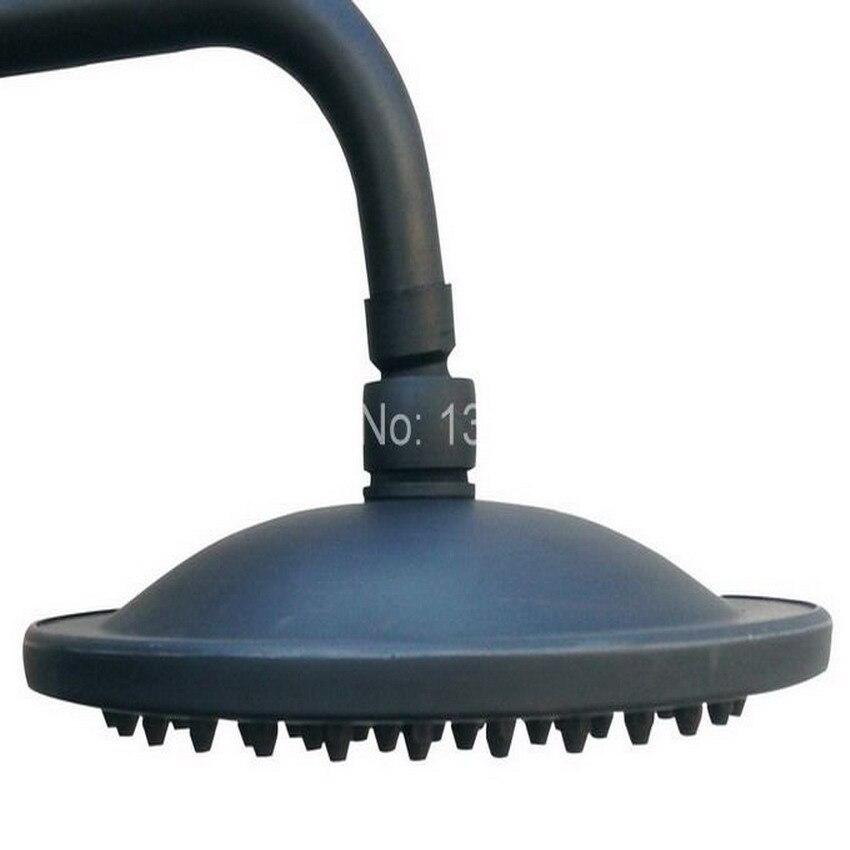 8 ( inch ) Black Oil Rubbed Bronze Round Shape Bath Rainfall Shower head / Bathroom Accessory (Standard 1/2) ash049