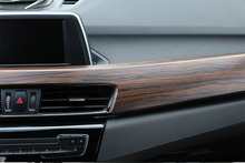 Luxury Wood Grain ABS Chrome Car Center Console Protection Panel Cover Styling For BMW X1 F48 2016 2017 2018