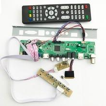 V56 범용 lcd tv 컨트롤러 드라이버 보드 pc/vga/hdmi/usb 인터페이스 (40 p lvds 케이블 포함) 1ch 6 비트 키패드 561416