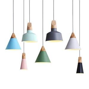 Image 5 - Eğim lambaları kolye ışıkları ahşap ve alüminyum restoran Bar kahve yemek odası oturma odası dekorasyon LED asılı aydınlatma armatürü