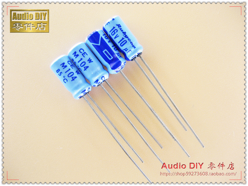 2018 hot sale 30PCS/50PCS Rubycon Old Sky Blue TWSS (CEW) Series <font><b>10uF</b></font>/<font><b>16V</b></font> <font><b>electrolytic</b></font> <font><b>capacitors</b></font> free shipping image