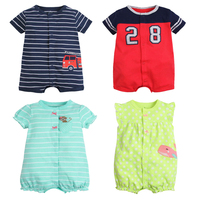 Baby Romper New Fashion Cartoon Short Sleeve Baby Girl Boy Clothes Summer Baby Costume 100 Cotton