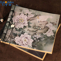 Vintage Chinese Fashion Memo Pad Notebook Note Pad Diary Notebook Beautiful Collection Binding Flower Writing Books N212