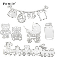 Facemile Embossing Card Baby Tools Scrapbooking Cutting Dies Stencil Decoration Decoration Craft Die Cutting Template