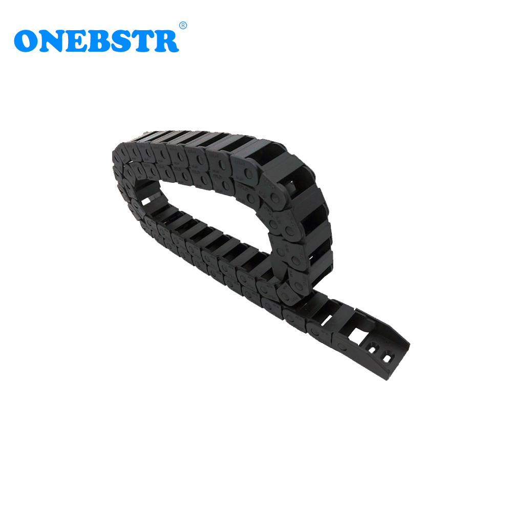 JFLO 10x20mm 1000mm Drag chain Wire Carrier cable Bridge non opening type Towline Protection Tanks chain with end connectors