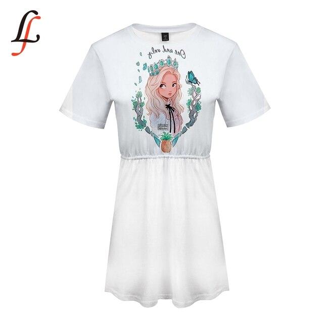 Robe dété Loona impression 3D mode tendance à manches courtes fille robe décontracté mode grande taille robe dété Style