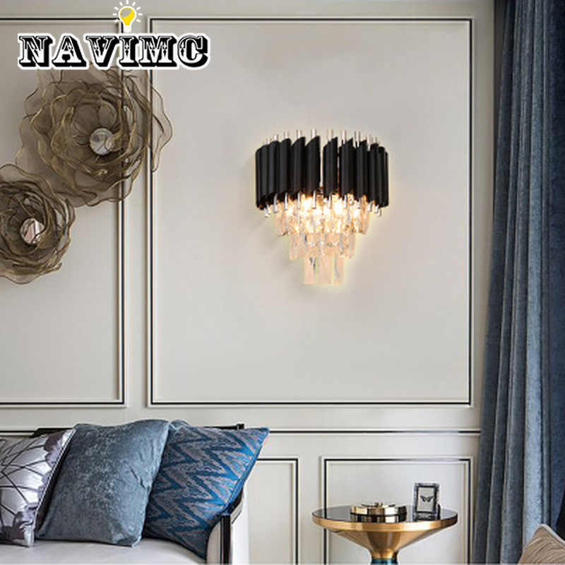 LED Wall Lamps Lighting Bedroom Living Room Crystal Wall Lamp AC90-260V Bedside Table Decor Wall Light Fixture