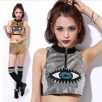 Fashion Women Nightclub DS Costumes Perform Jazz Song New Eyes Hip Hop Clothing Bar Stage Jacket