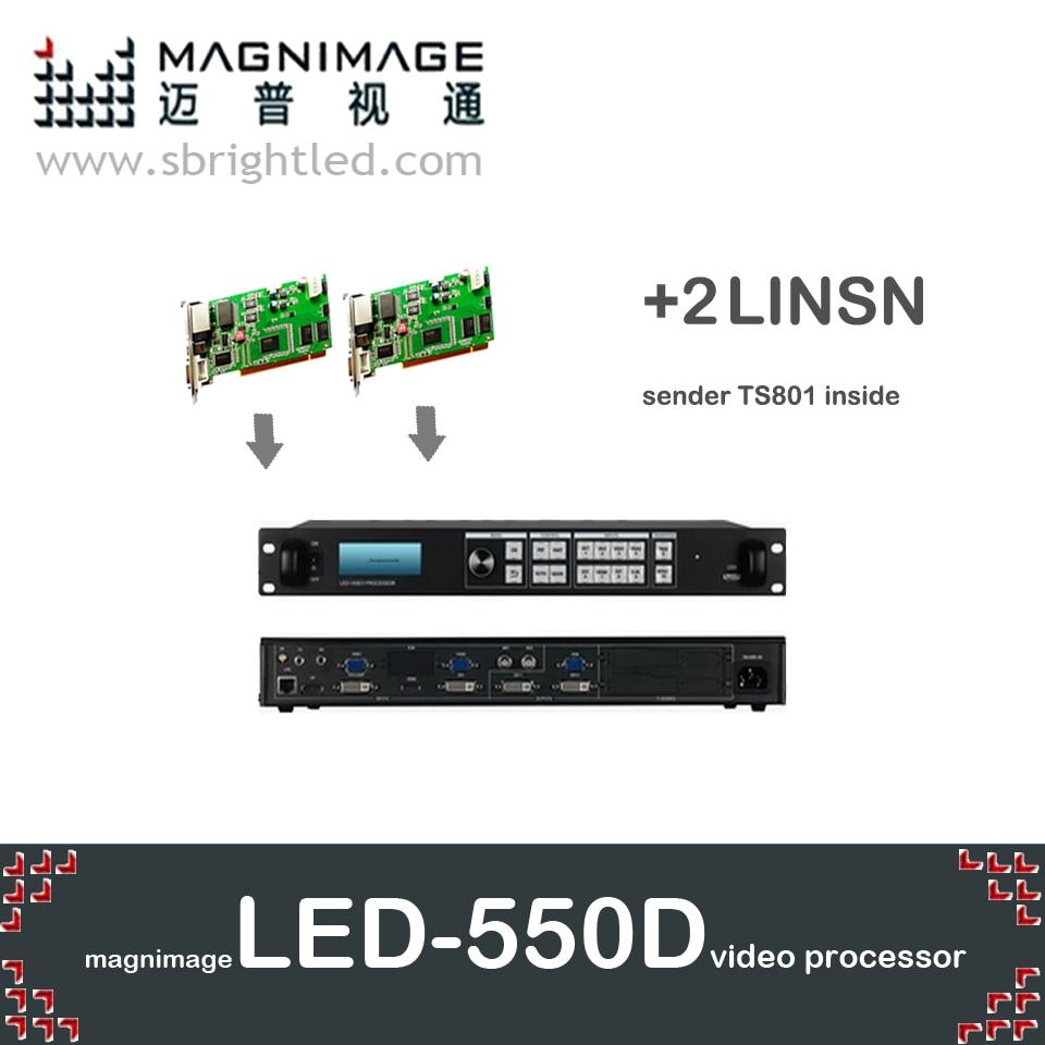 freeship MAGNIMAGE LED-550D + 2pcs linsn TS802 led վիդեո պրոցեսոր