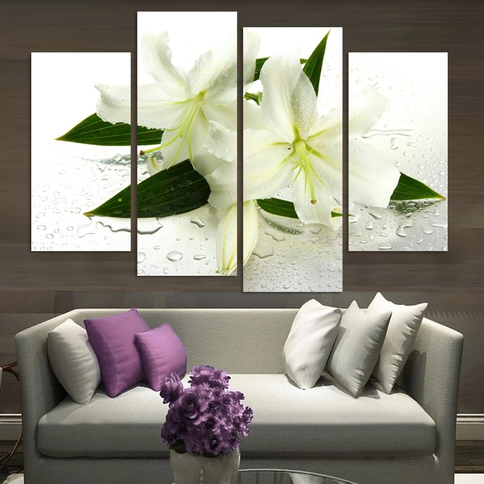 Modern Paintings For Living Room Popular Flower Modern Art Buy Cheap Flower Modern Art Lots From