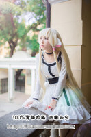 Chobits Chii Fashion Black White Dress Cosplay Costume Custome Made Any Size Free Shipping NEW