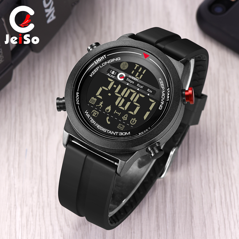 JEISO font b Smart b font Sport Mens Electronic font b Watches b font Waterproof Pedometers