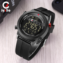 JEISO Smart Sport Mens Electronic Watches Waterproof Pedometers Message Reminder Bluetooth Outdoor Watch Men Digital Smartwatch