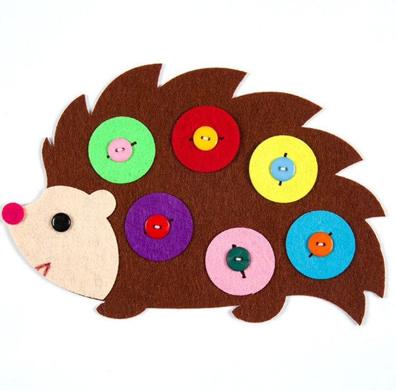 1pc Hand Zipper Button Teaching Kindergarten Manual Diy Weave Cloth Early  Education Toys Montessori Teaching Aids Math Toys #4