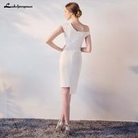 одно плечо короткие платья невесты белый черный бордовый платья праздничное платье-де-casamen официальная вечеринка платья для выпускного вечера