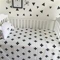 Clásico Negro Blanco Algodón Bebé Hojas de Estilo Minimalista Escandinavo Barata Brib Suministros Decoraciones Size110 * 150 CM