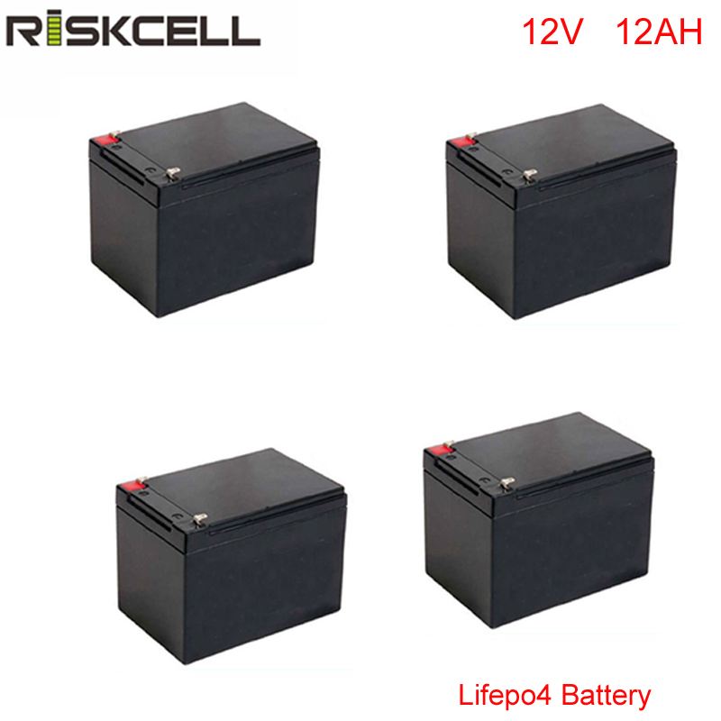 4pcs/lot 18650 rechargeable <font><b>lifepo4</b></font> <font><b>12v</b></font> 12ah lithium ion <font><b>battery</b></font> with 2000cycles for camping car image