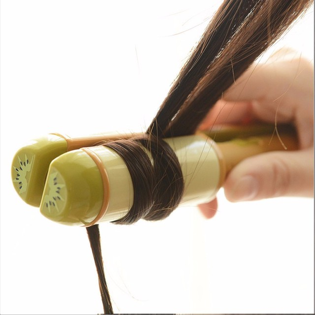 2 en 1 Plancha Enderezar Irons4 colores withStyling Herramientas Plancha de Pelo y rizador de pelo mini Férula Eléctrica de cuatro colores