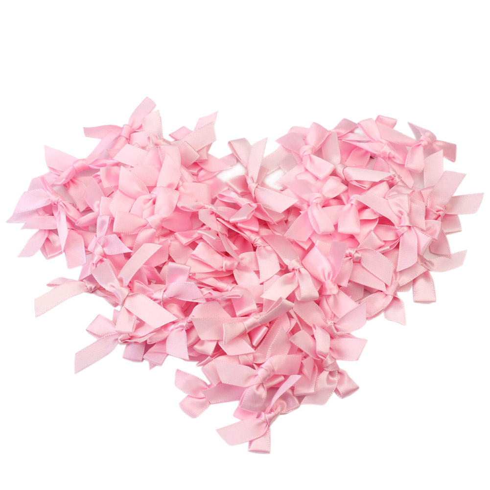 Small flowers for crafts - 100pcs Lot Handmade Small Polyester Satin Ribbon Bow Appliques Sewing Craft Diy Kids Girls Headwear