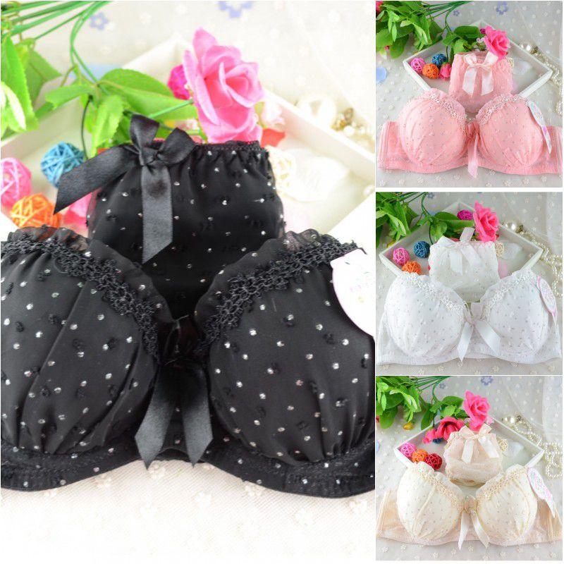 Sexy Lingerie Elegant 3 4 Cup Bra Panty Dot Lace Women Underwear Set Bra Push Up Bra Set in Bra Brief Sets from Underwear Sleepwears