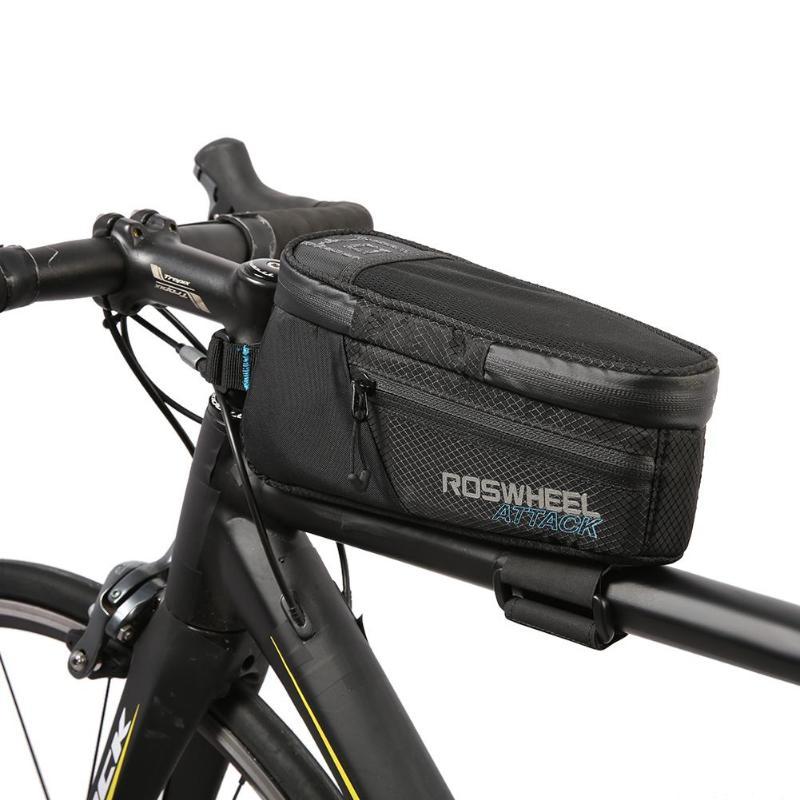 ROSWHEEL 1.5L Vélo Avant Top Tube Sac VTT Vélo De Route Étanche Pouch Vélos Accessoire Unisexe Sur L'emballage Du Tube