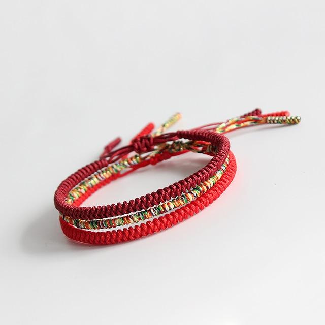 5da66d9898aed Original Multi Color Tibetan Buddhist Handmade Knots Lucky Rope Bracelet  Size Adjustable Same Model As Leonardo