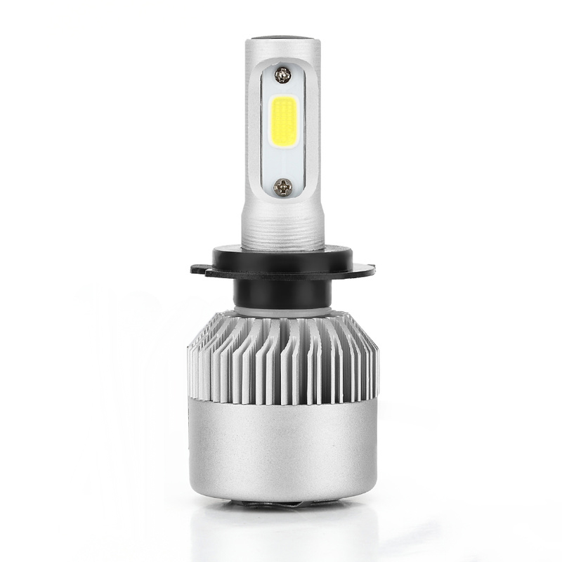 1x H7 4000LM 18W LED Headlight Bulbs 6500K Car LED Light Headlight Lamp White in Lamp Hoods from Automobiles Motorcycles