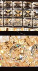 Image 2 - ゴールデン円形のリビングルームランプクリスタルランプs王ケーキベッドルーム、リビングルームライトledライトシーリングライトを新しいリスト
