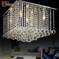 Hot Selling Modern Lustre Square Crystal Chandelier Lighting Home Lamp L500 W500 H400mm