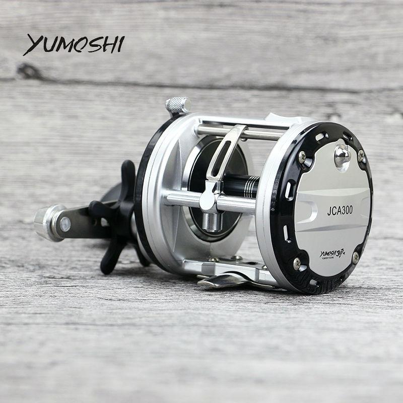 YUMOSHI JCA200/300/400/500 Cast Drum Wheel 12+1 BB Bait Casting Fishing Reel Carretilhas De Pesca Wheel for Saltwater