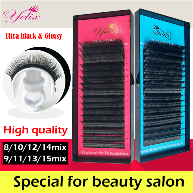 1 Box/set Eyelashes Natural False Eye Lashes Mink Cilios Posticos Individual Eyelash Extension Fake Kirpik Silk Lash Human Hair 3