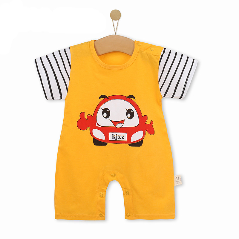 Summer baby boys girl Rompers clothes 2018 kids short sleeve Cartoon pattern climbing Jumpsuit infant bebes toddler jogging suit
