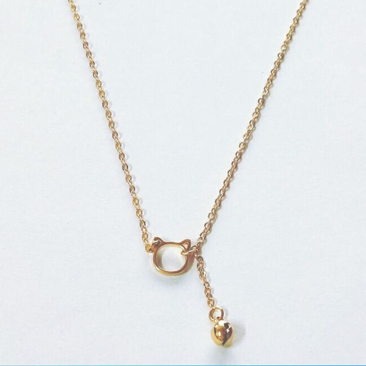 NEW stainless steel necklace fashion brushed dog bone necklace clavicle chain temperament sweet chain accessories DN01
