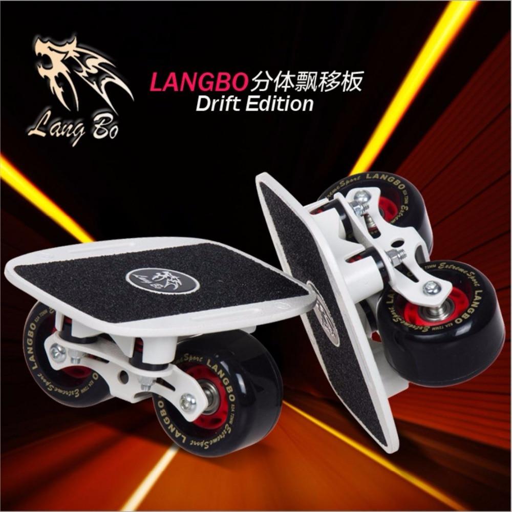 LangBo 8 génération Livraison ligne Patins Printemps amortissement Dérive Bord Gommage Alliage D'aluminium Patines Planche À Roulettes 2 Roues FreeStyle Skate
