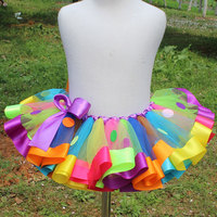 Fashion Rainbow Mini Baby Girls 10 12 Year Tutu Skirts Kids Photo Prop Baby Outfit