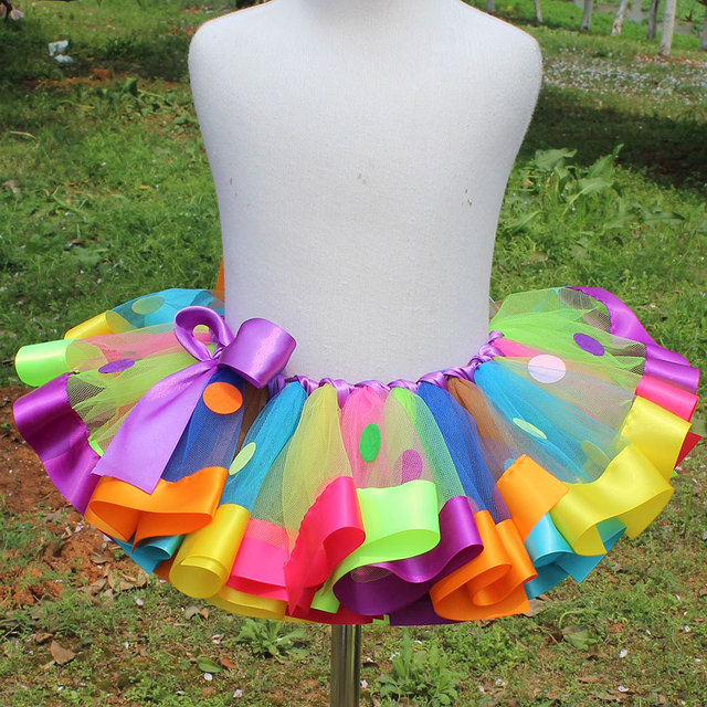 0c86d07a3e fashion rainbow mini baby girls 10 12 year tutu skirts kids photo prop baby  outfit