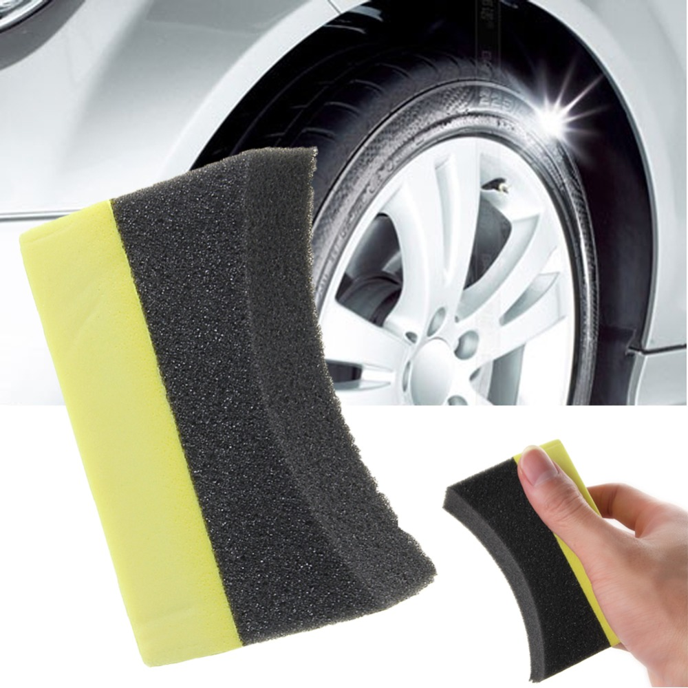 1pc Car Professional Tyre Tire Dressing Applicator Curved Foam Sponge Pad