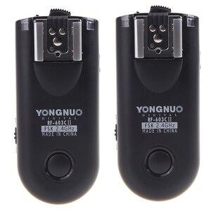 Image 1 - Yongnuo RF 603C II bezprzewodowy zdalnie wyzwalana lampa błyskowa wyzwalania 16 kanałów C3 dla Canon 1D 5D 7D 10D 20D 30D 40D 50D