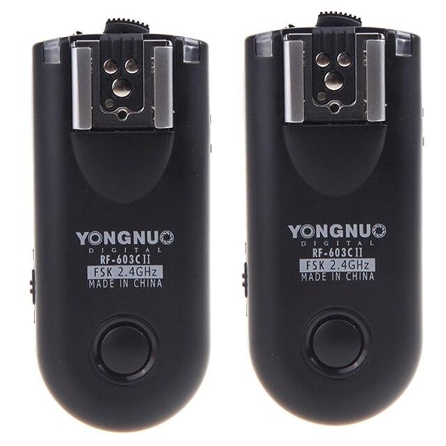 Yongnuo RF 603C II bezprzewodowy zdalnie wyzwalana lampa błyskowa wyzwalania 16 kanałów C3 dla Canon 1D 5D 7D 10D 20D 30D 40D 50D