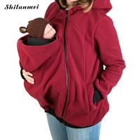 Plus Size Women Sweatshirts Baby Carrier Wearing Hoodies Long Sleeve Zipper Coat Kangaroo Hoodie Parenting Clothing