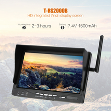 "T-RS2000B 5.8G 32CH 7"" LCD FPV Monitor With Built-in Battery for QAV250 FPV Racing Quadcopter Suport PAL/NTSC Video Format(China (Mainland))"