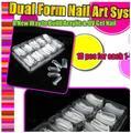 100 шт. Двойной Ясно Ногтей Форма Система Уф Акрилового Поддельные Ногтей накладные ногти Art Совет