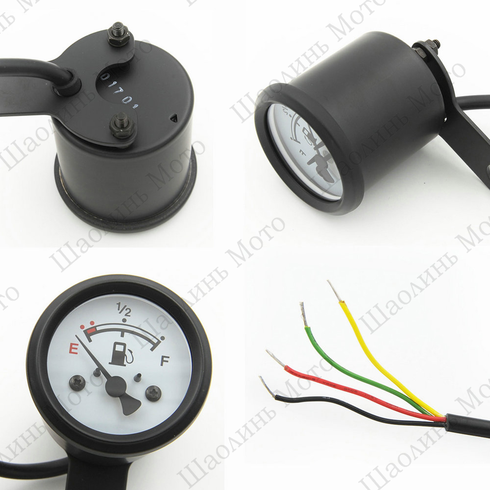hight resolution of vintage classic 4 wires waterproof led black chrome cafe racer motorcycle oil fuel gauge for yamaha sr400 honda free shipping in instruments from