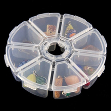 Storage Boxes For Diamond Painting Buttons Pills Storage 8 Grids Rhinestone Container Crystal Diamond Embroidery Bags Tools Box