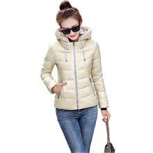 Снег носить ватные куртки женщины 2016 осенью и зимой куртка женщин тонкий короткий хлопок-ватник верхняя одежда зимнее пальто женщины